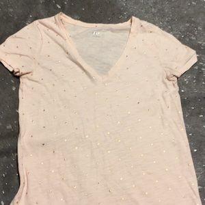 Baby pink v-neck women's shirt!